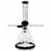 "Quantum Sci 8"" Mini Beaker with Segway Perc - Black - Retro Active Smoke Shop  - 1"