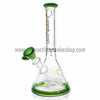 "Quantum Sci 8"" Mini Beaker with Segway Perc - Green - Retro Active Smoke Shop  - 2"