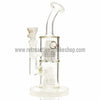 "Quantum Sci 8"" Mini Double Chandelier Perc Bong - White - Retro Active Smoke Shop  - 1"