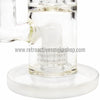 "Quantum Sci 8"" Mini Double Chandelier Perc Bong - White - Retro Active Smoke Shop  - 4"