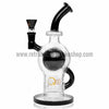 Quantum Sci Orb Bubbler Bong with Inline Perc - Black - Retro Active Smoke Shop  - 1