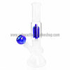Sabertooth Glass Blue/White Single Perk Waterpipe - Retro Active Smoke Shop  - 1