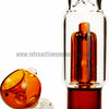 Sabertooth Glass Amber/Clear Single Perk Waterpipe - Retro Active Smoke Shop  - 3