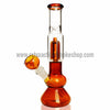 Sabertooth Glass Amber/Clear Single Perk Waterpipe - Retro Active Smoke Shop  - 1