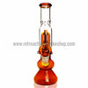 Sabertooth Glass Amber/Clear Single Perk Waterpipe - Retro Active Smoke Shop  - 2