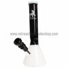 "Sabertooth Glass 818 12"" Black and White Beaker Bong - Retro Active Smoke Shop  - 2"