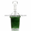 Third Times A Charm Glass Cup Rig - Green - Retro Active Smoke Shop  - 2