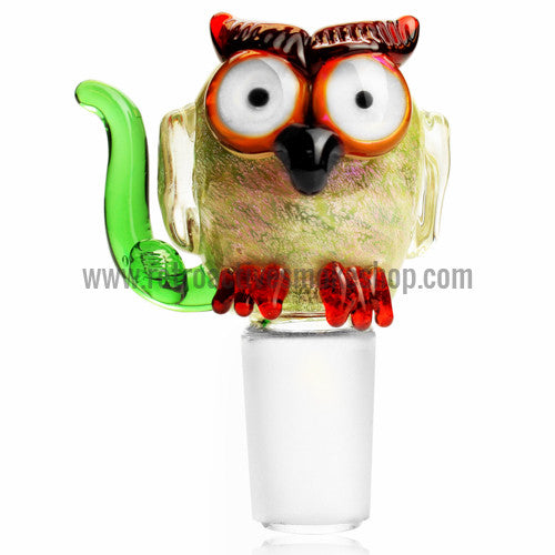 Empire Glassworks Hootie Owl Bowl with Built In Screen - 18mm - Retro Active Smoke Shop  - 1