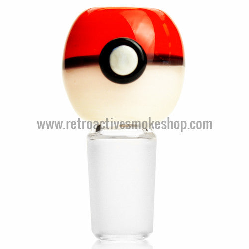 Empire Glassworks Pokeball Bowl with Built In Screen - 18mm - Retro Active Smoke Shop  - 1
