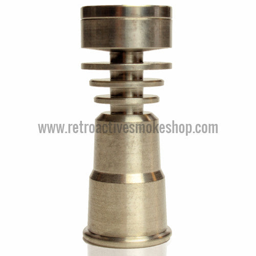RASS 14mm/18mm Female Grade 2 Titanium Domeless Nail with Dab Plate - Retro Active Smoke Shop  - 1