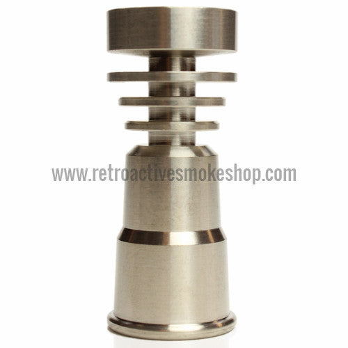 RASS 14mm/18mm Female Grade 2 Titanium Domeless Nail - Retro Active Smoke Shop  - 1