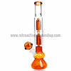 Sabertooth Glass Amber/Clear Double Perk Waterpipe - Retro Active Smoke Shop  - 1