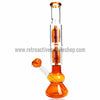 Sabertooth Glass Amber/Clear Double Perk Waterpipe - Retro Active Smoke Shop  - 2