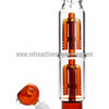 Sabertooth Glass Amber/Clear Double Perk Waterpipe - Retro Active Smoke Shop  - 3