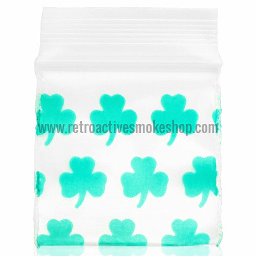 Apple Bags 1010 Ziplock Baggies (100 Pack) - Green Clover - Retro Active Smoke Shop