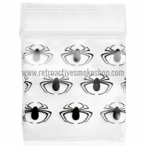 Apple Bags 1010 Ziplock Baggies (100 Pack) - Spider - Retro Active Smoke Shop