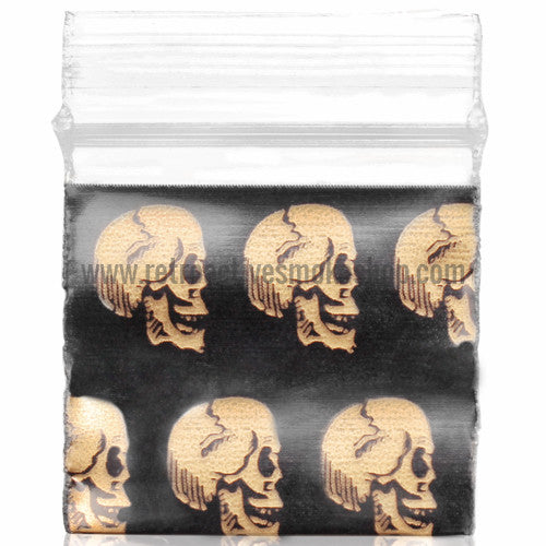 Apple Bags 1010 Ziplock Baggies (100 Pack) - Skulls - Retro Active Smoke Shop