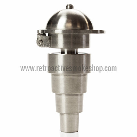 RASS 10mm/14mm/18mm Grade 2 Titanium Domeless Universal Nail with Carb Cap - Retro Active Smoke Shop  - 1