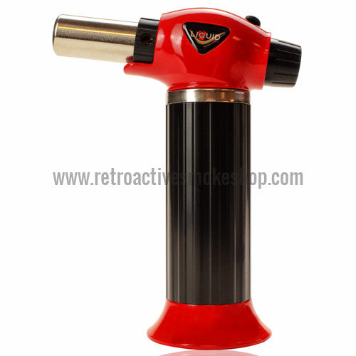 Liquid Sci Butane Powered Torch Lighter - Red - Retro Active Smoke Shop  - 1