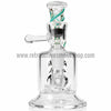 ATX Glassworks Diffused Vapor Stone Rig with Color Twist - Teal - Retro Active Smoke Shop  - 4