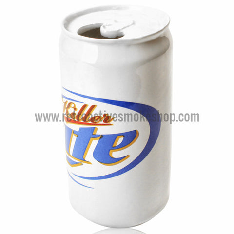 "ATX Glassworks Ceramic Beer Can Steamroller - ""Killer Lite"" - Retro Active Smoke Shop"