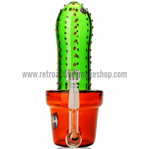 The Crush Glass Tall Cactus Oil Rig - Retro Active Smoke Shop  - 1