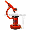 The Crush Glass Microscope Oil Rig with Honeycomb Perc - Amber - Retro Active Smoke Shop  - 1