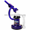 The Crush Glass Microscope Oil Rig with Honeycomb Perc - Blue - Retro Active Smoke Shop  - 1