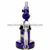 The Crush Glass Microscope Oil Rig with Honeycomb Perc - Blue - Retro Active Smoke Shop  - 4