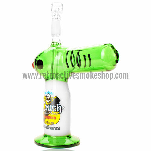 The Crush Torch Lighter Oil Rig - Green - Retro Active Smoke Shop  - 1