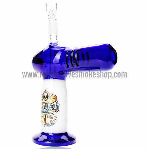 The Crush Torch Lighter Oil Rig - Blue - Retro Active Smoke Shop  - 1