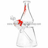 Grav Labs Clear Helix Beaker Water Pipe - Red - Retro Active Smoke Shop  - 1