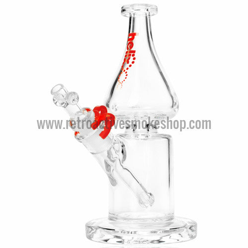 Grav Labs Clear Helix Flare Water Pipe - Red - Retro Active Smoke Shop  - 1
