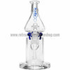Grav Labs Clear Helix Flare Water Pipe - Blue - Retro Active Smoke Shop  - 2