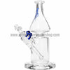 Grav Labs Clear Helix Flare Water Pipe - Blue - Retro Active Smoke Shop  - 1