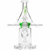 Grav Labs Clear Helix Flare Water Pipe - Green - Retro Active Smoke Shop  - 2