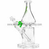 Grav Labs Clear Helix Flare Water Pipe - Green - Retro Active Smoke Shop  - 1