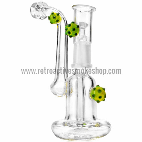 "RASS 5"" Mini ""Spore"" Oil Rig Bubbler - Green - Retro Active Smoke Shop  - 1"