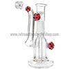"RASS 5"" Mini ""Spore"" Oil Rig Bubbler - Purple - Retro Active Smoke Shop  - 2"