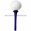 Matty White Golf Ball Tee Spoon Hand Pipe - Blue - Retro Active Smoke Shop  - 3