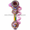 Alan Balades Heady Switchback Hammer - Purple/Rainbow - Retro Active Smoke Shop  - 2