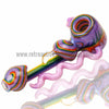 Alan Balades Heady Switchback Hammer - Purple/Rainbow - Retro Active Smoke Shop  - 3
