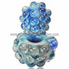 Harold Durbin Nubby Spoon Hand Pipe - Blue - Retro Active Smoke Shop  - 3