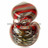 Alan Balades Switchback Peanut Hand Pipe - Red/White - Retro Active Smoke Shop  - 4