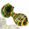 Alan Balades Switchback Peanut Hand Pipe - Rasta - Retro Active Smoke Shop  - 1