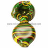 Alan Balades Switchback Peanut Hand Pipe - Rasta - Retro Active Smoke Shop  - 2