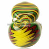 Alan Balades Switchback Peanut Hand Pipe - Rasta - Retro Active Smoke Shop  - 4