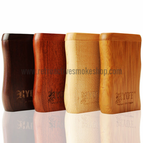 RYOT Small Wood Magnetic Taster Box - Retro Active Smoke Shop  - 1