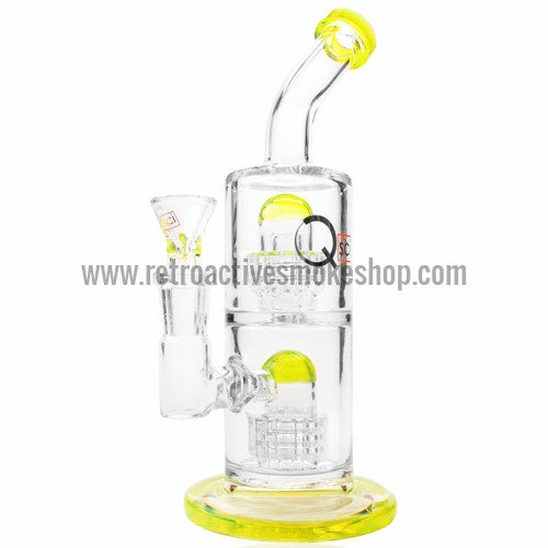 "Quantum Sci 8"" Mini Double Chandelier Perc Bong - Slyme - Retro Active Smoke Shop  - 1"