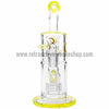 "Quantum Sci 8"" Mini Double Chandelier Perc Bong - Slyme - Retro Active Smoke Shop  - 2"